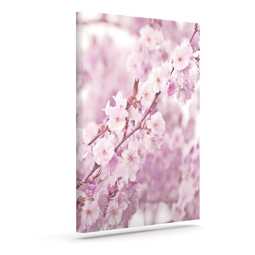 "Monika Strigel ""Endless Cherry"" Pink Floral Canvas Art - KESS InHouse  - 1"