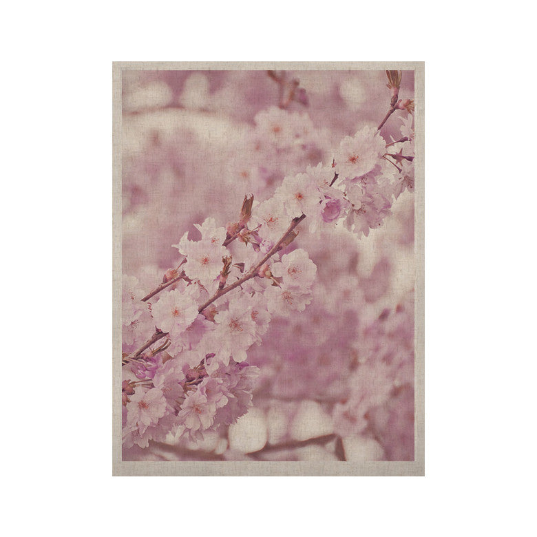 "Monika Strigel ""Endless Cherry"" Pink Floral KESS Naturals Canvas (Frame not Included) - KESS InHouse  - 1"