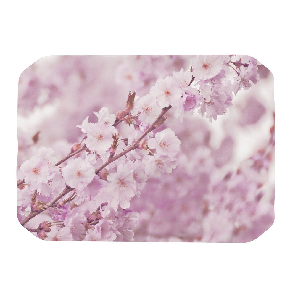 "Monika Strigel ""Endless Cherry"" Pink Floral Place Mat - KESS InHouse"