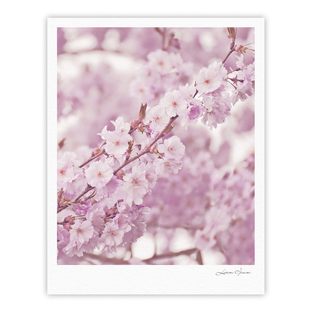 "Monika Strigel ""Endless Cherry"" Pink Floral Fine Art Gallery Print - KESS InHouse"
