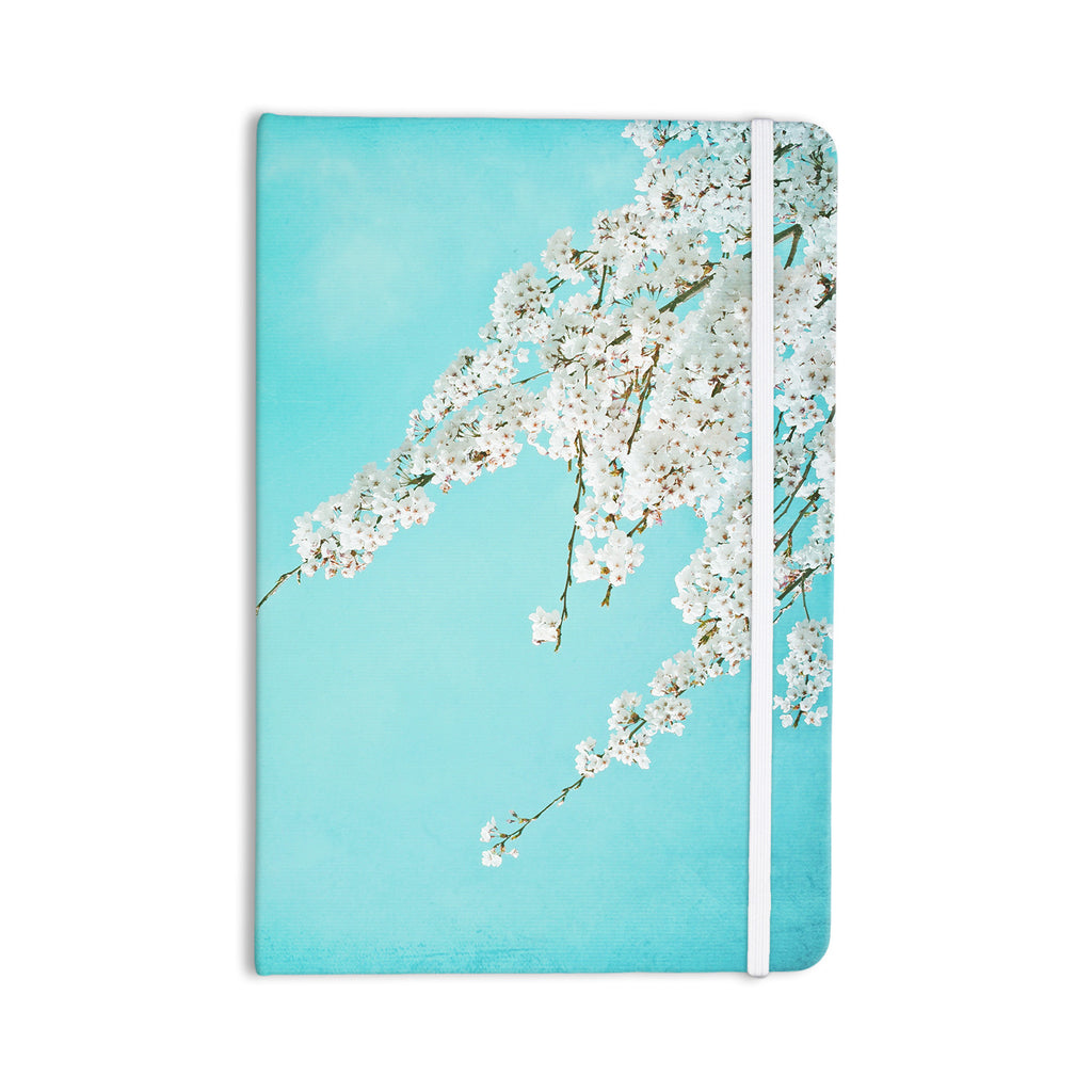 "Monika Strigel ""Hanami"" Teal White Everything Notebook - KESS InHouse  - 1"