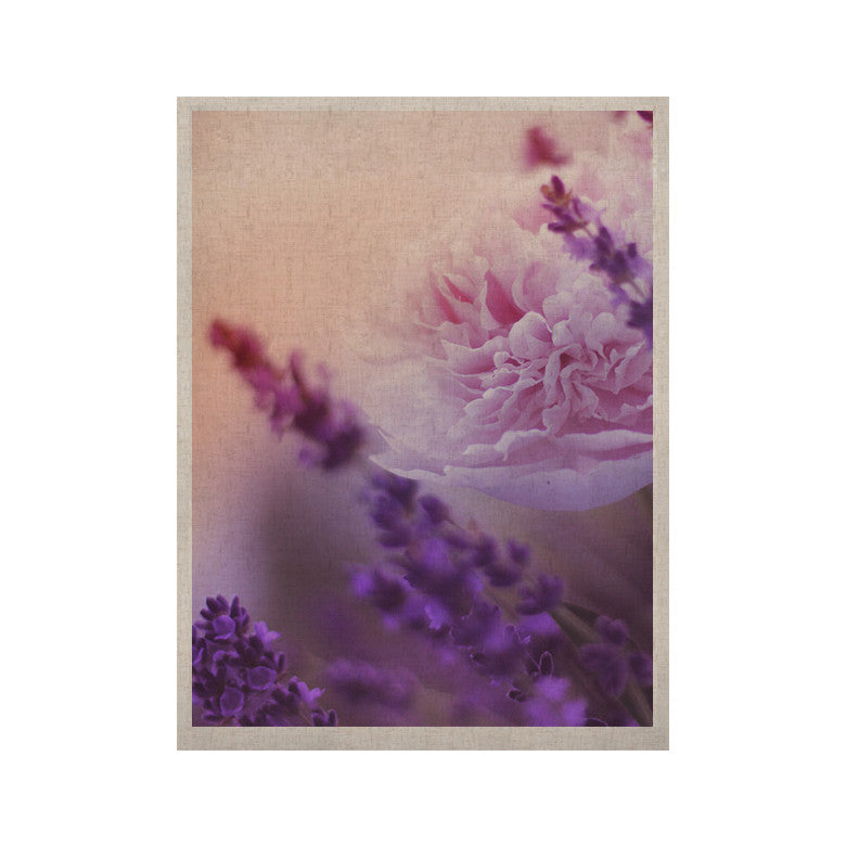 "Monika Strigel ""Peony and Lavender"" Pink Purple KESS Naturals Canvas (Frame not Included) - KESS InHouse  - 1"