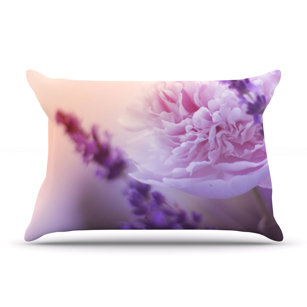 "Monika Strigel ""Peony and Lavender"" Pink Purple Pillow Sham - KESS InHouse"