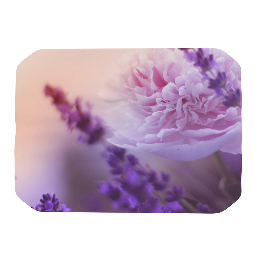 "Monika Strigel ""Peony and Lavender"" Pink Purple Place Mat - KESS InHouse"