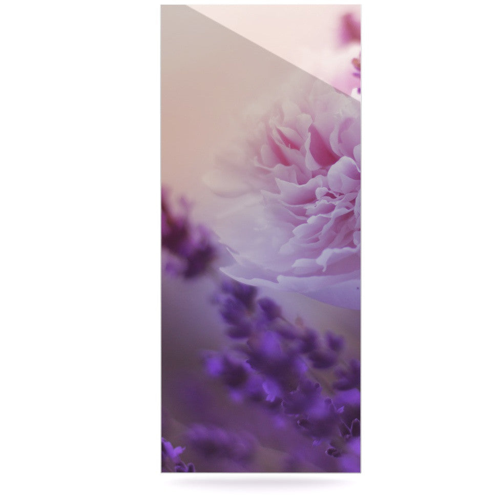 "Monika Strigel ""Peony and Lavender"" Pink Purple Luxe Rectangle Panel - KESS InHouse  - 1"