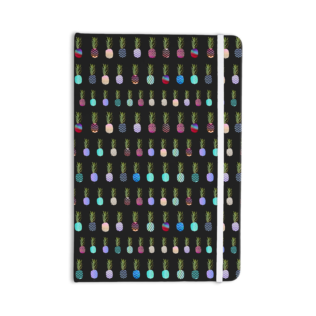 "Monika Strigel ""Pineapple People Black"" Black Multicolor Everything Notebook - KESS InHouse  - 1"