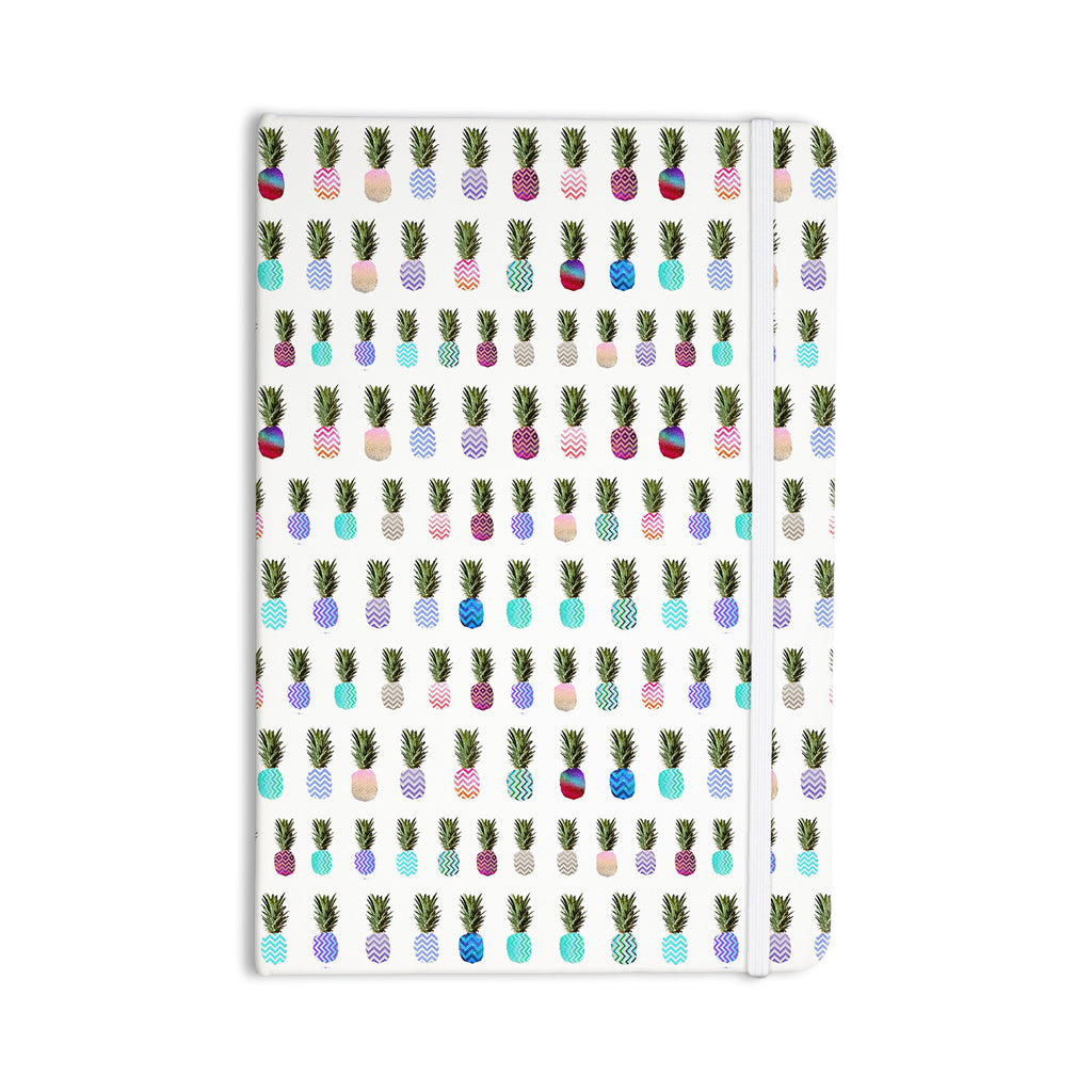 "Monika Strigel ""Pineapple People"" White Multicolor Everything Notebook - KESS InHouse  - 1"