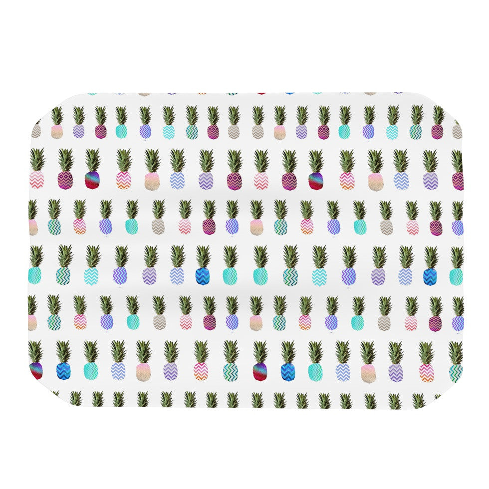 "Monika Strigel ""Pineapple People"" White Multicolor Place Mat - KESS InHouse"