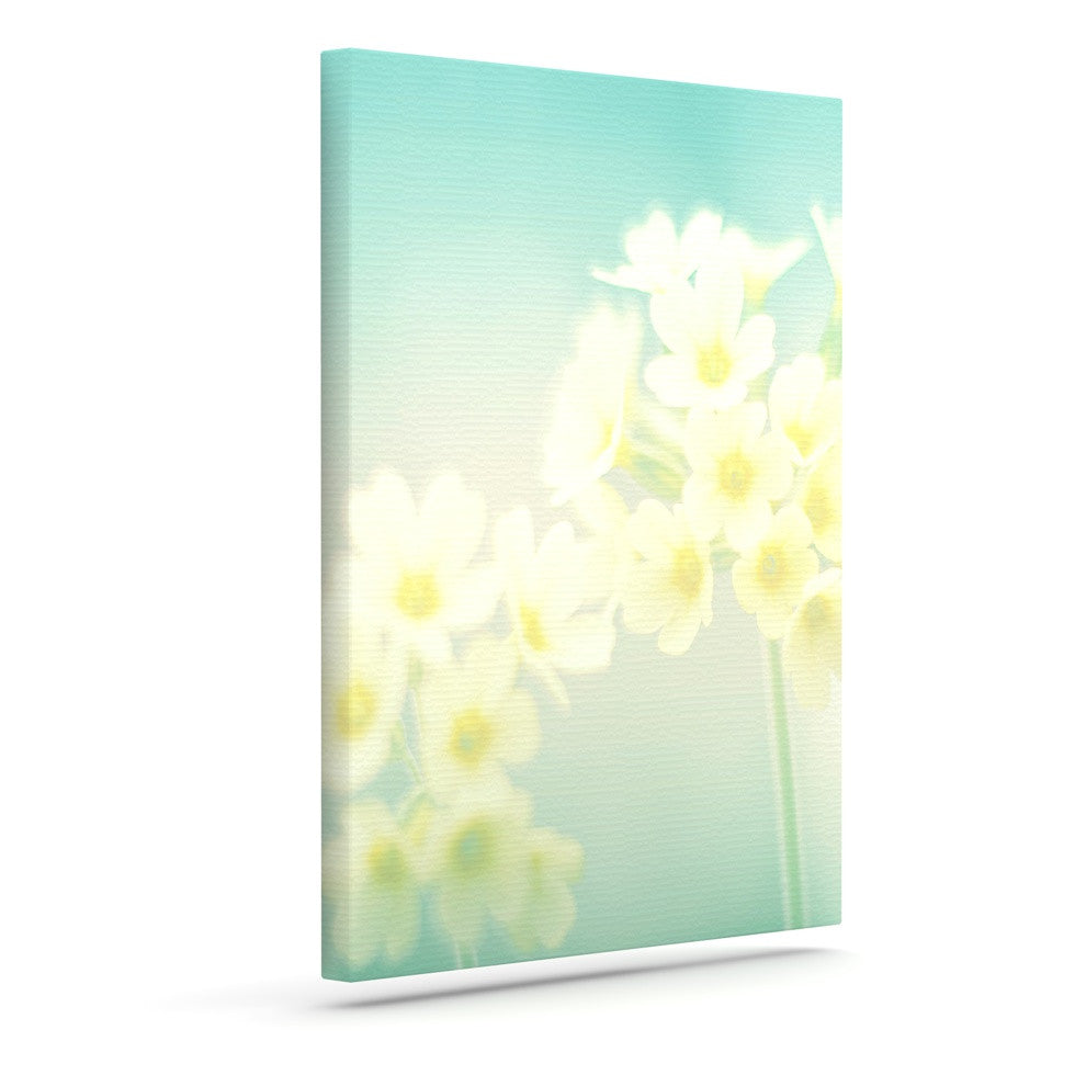 "Monika Strigel ""Happy Spring"" Yellow Teal Canvas Art - KESS InHouse  - 1"