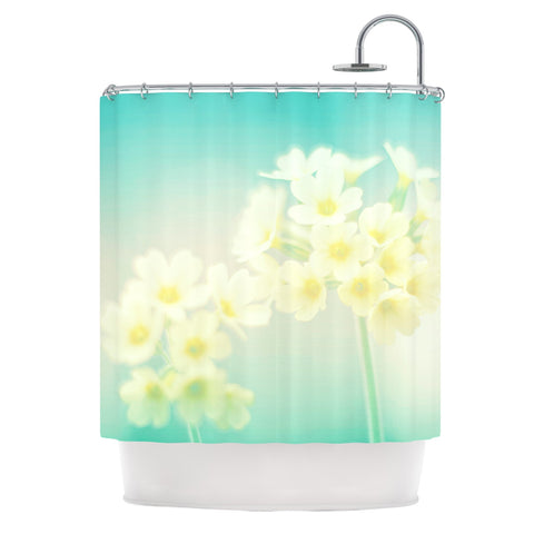 "Monika Strigel ""Happy Spring"" Yellow Teal Shower Curtain - Outlet Item - KESS InHouse"