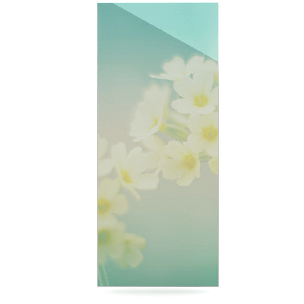 "Monika Strigel ""Happy Spring"" Yellow Teal Luxe Rectangle Panel - KESS InHouse  - 1"