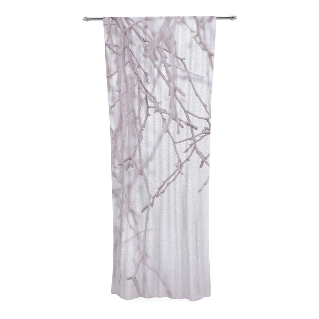 "Monika Strigel ""Frozen"" White Decorative Sheer Curtain - KESS InHouse  - 1"
