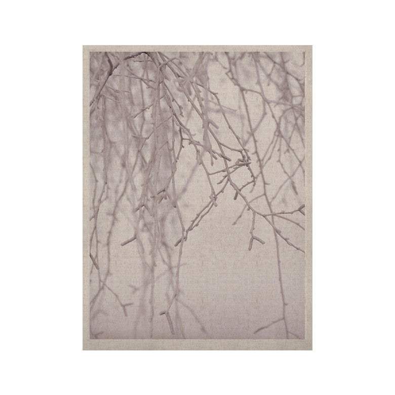 "Monika Strigel ""Frozen"" White KESS Naturals Canvas (Frame not Included) - KESS InHouse  - 1"