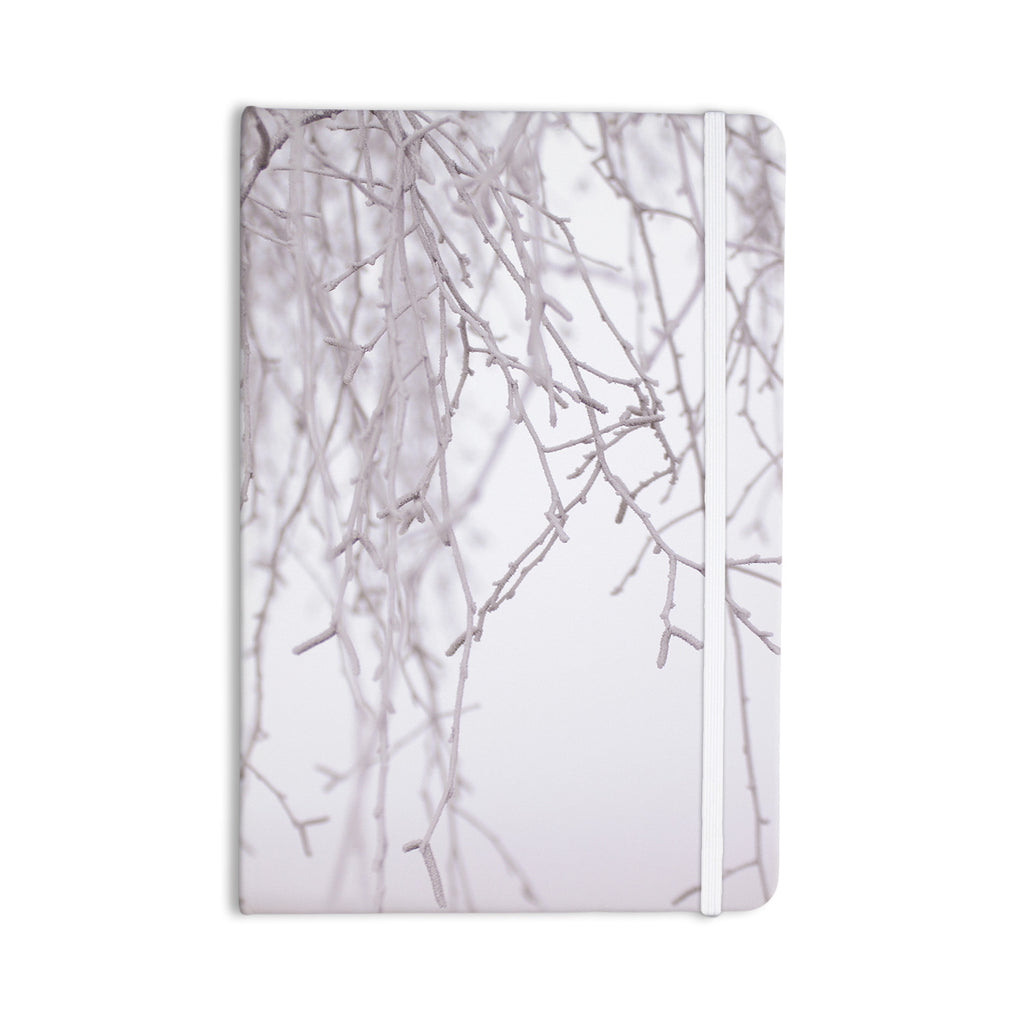 "Monika Strigel ""Frozen"" White Everything Notebook - KESS InHouse  - 1"