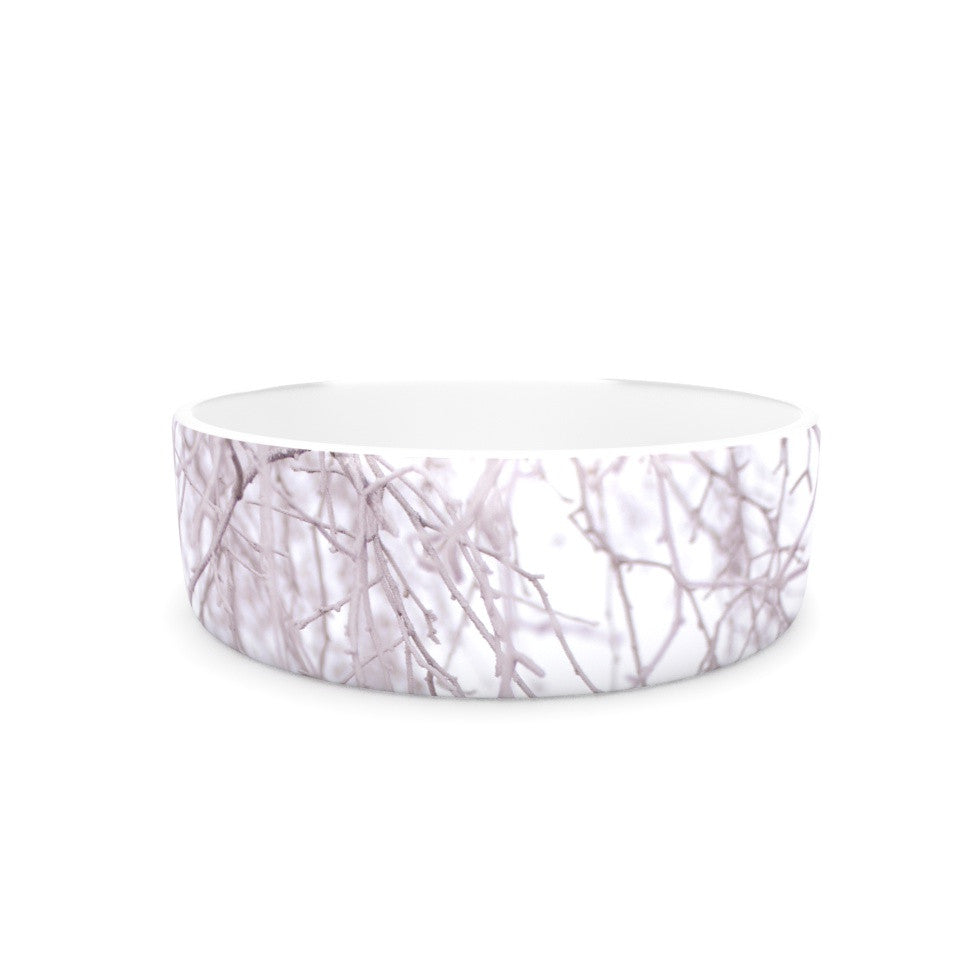 "Monika Strigel ""Frozen"" White Pet Bowl - KESS InHouse"