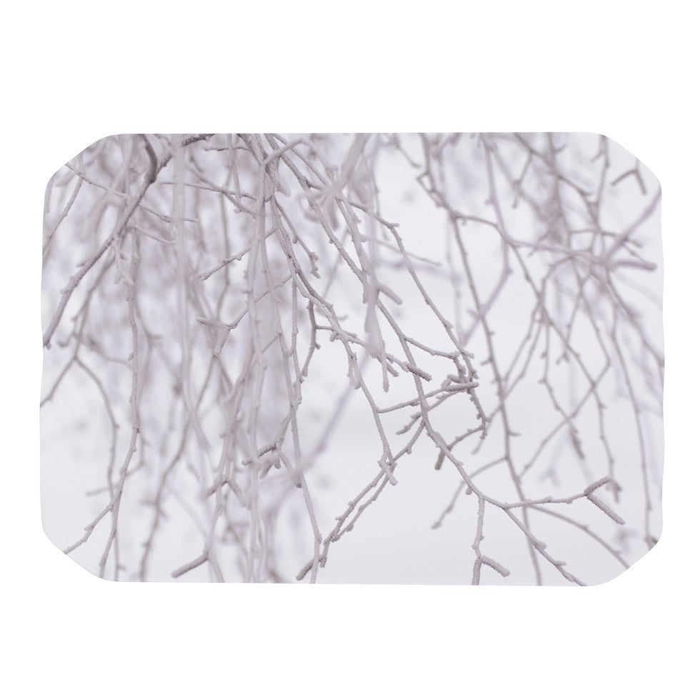 "Monika Strigel ""Frozen"" White Place Mat - KESS InHouse"