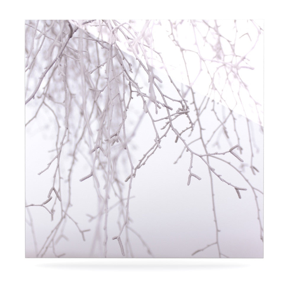 "Monika Strigel ""Frozen"" White Luxe Square Panel - KESS InHouse  - 1"