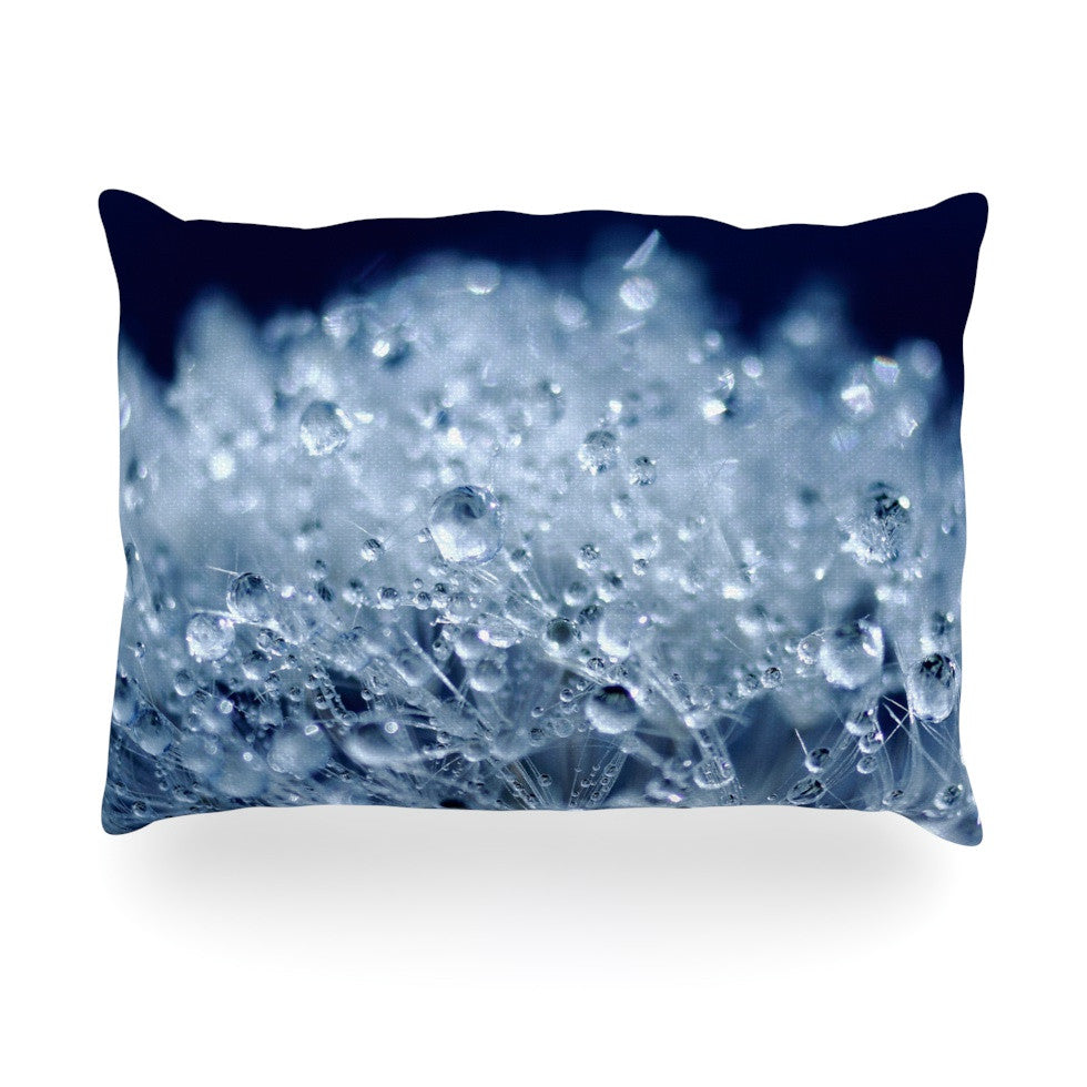 "Monika Strigel ""Dandelion Diamonds"" Navy Blue Oblong Pillow - KESS InHouse"