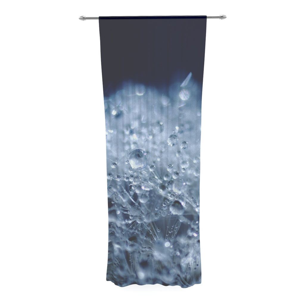 "Monika Strigel ""Dandelion Diamonds"" Navy Blue Decorative Sheer Curtain - KESS InHouse  - 1"