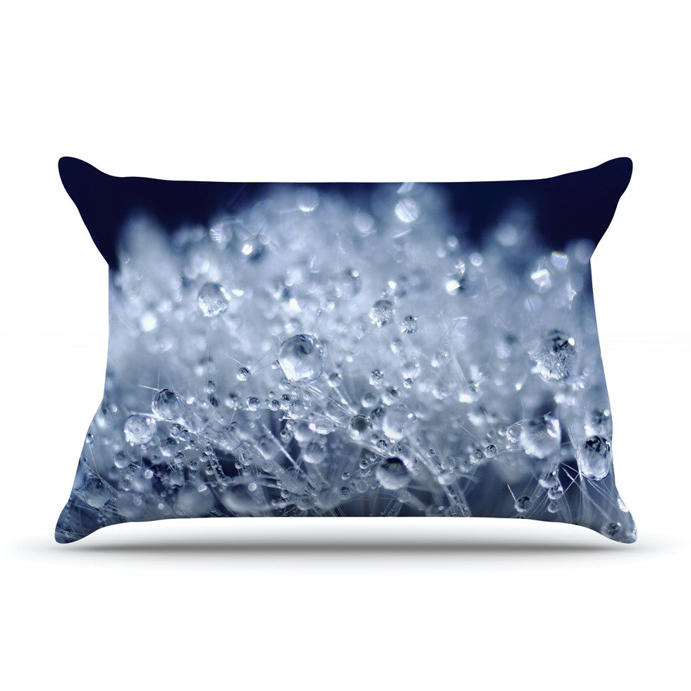 "Monika Strigel ""Dandelion Diamonds"" Navy Blue Pillow Sham - KESS InHouse"
