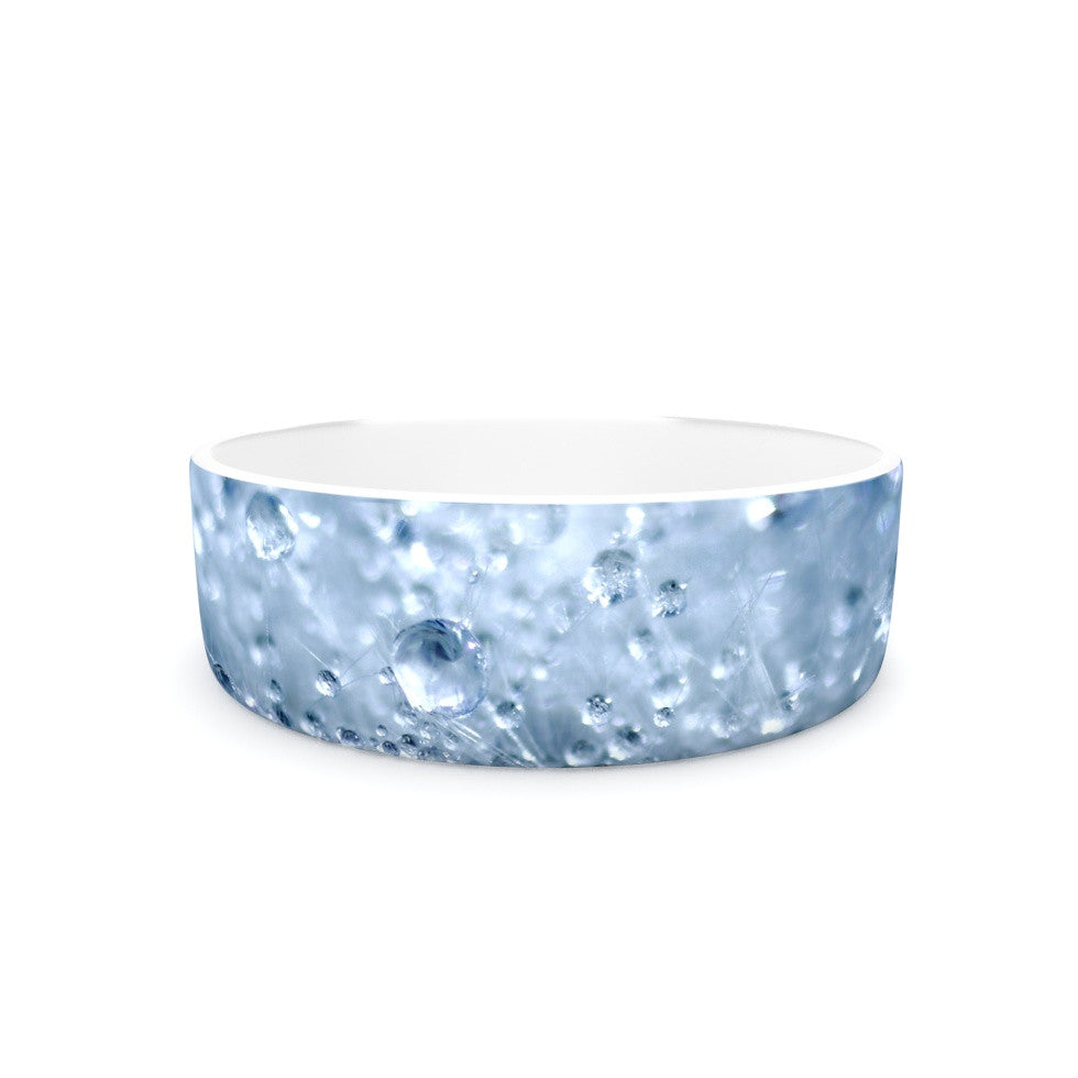 "Monika Strigel ""Dandelion Diamonds"" Navy Blue Pet Bowl - KESS InHouse"