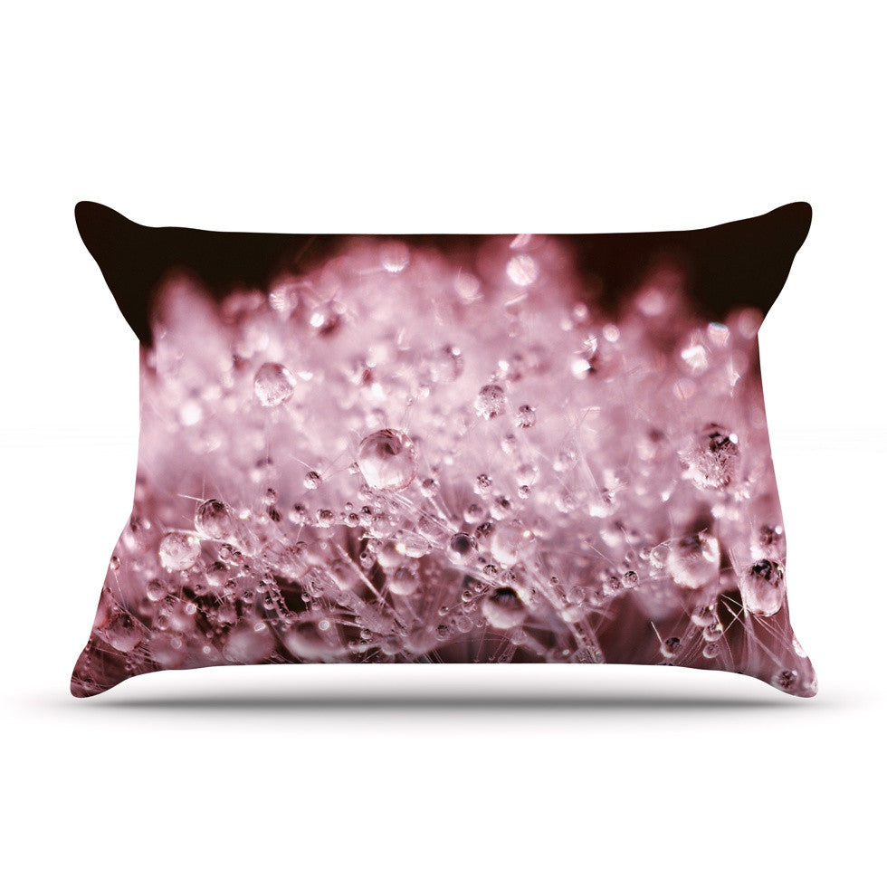 "Monika Strigel ""Marsala Dandelion Diamonds"" Red Pink Pillow Sham - KESS InHouse"