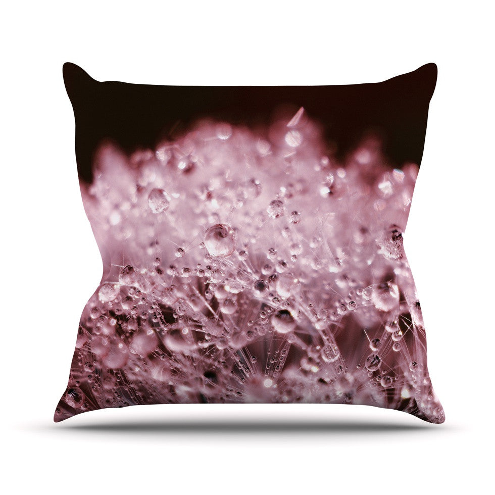 "Monika Strigel ""Marsala Dandelion Diamonds"" Red Pink Outdoor Throw Pillow - KESS InHouse  - 1"