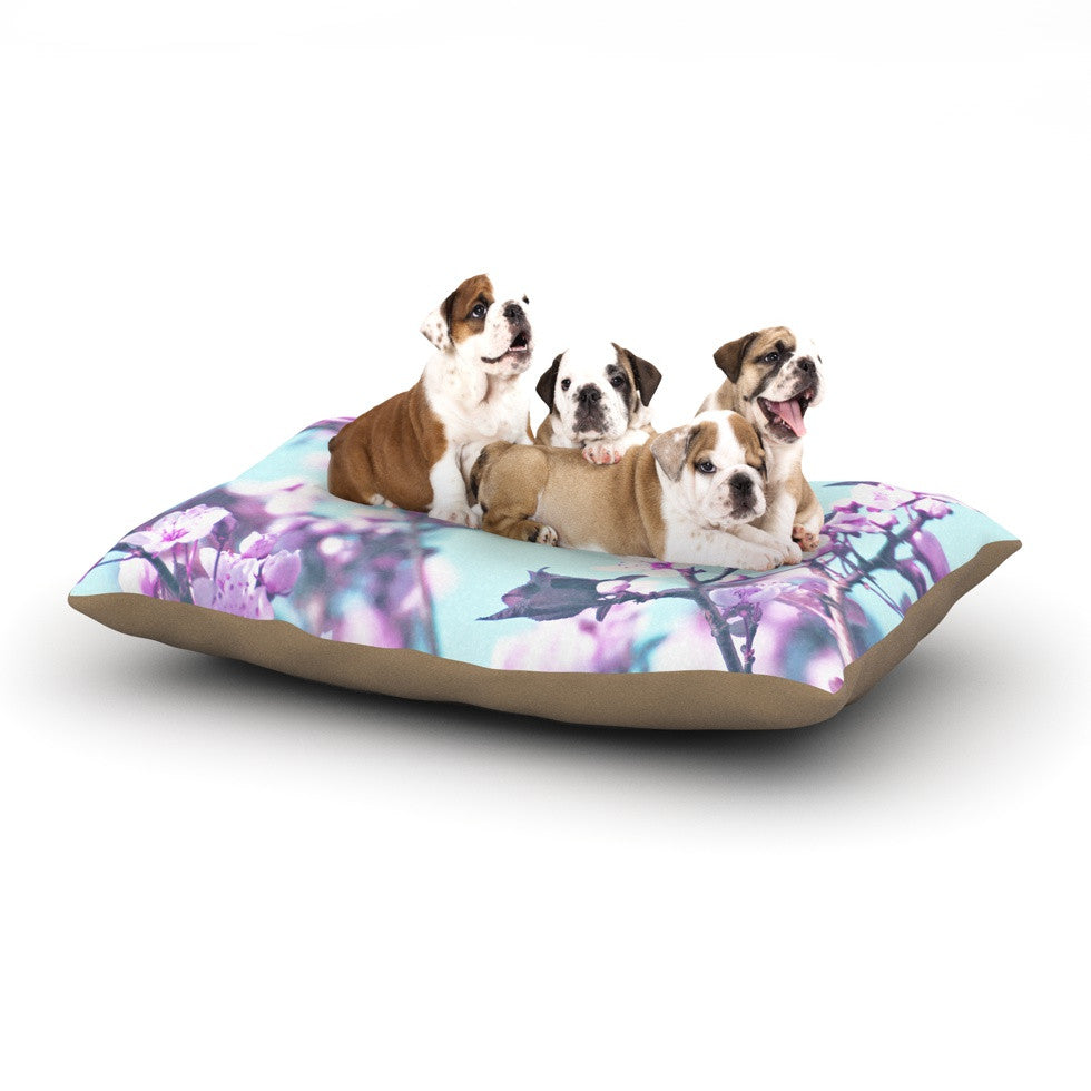 "Monika Strigel ""Cherry Phantasy"" Blue Pink Dog Bed - KESS InHouse  - 1"