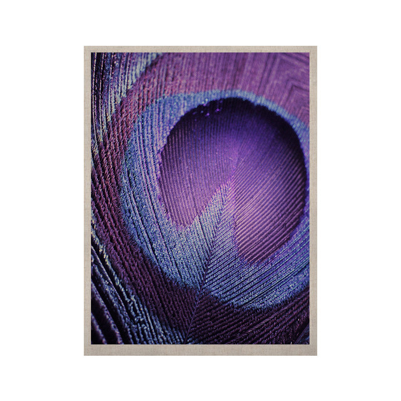 "Monika Strigel ""Purple Peacock"" Lavender KESS Naturals Canvas (Frame not Included) - KESS InHouse  - 1"
