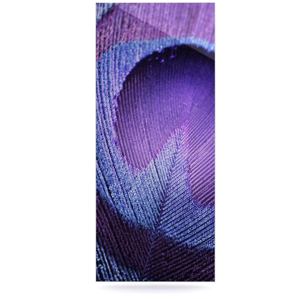 "Monika Strigel ""Purple Peacock"" Lavender Luxe Rectangle Panel - KESS InHouse  - 1"