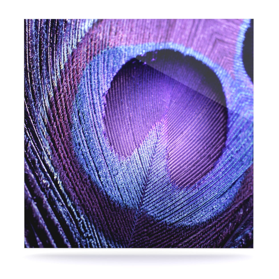 "Monika Strigel ""Purple Peacock"" Lavender Luxe Square Panel - KESS InHouse  - 1"