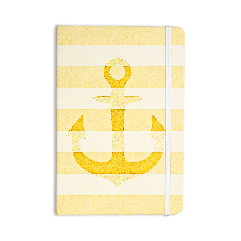 "Monika Strigel ""Stone Vintage Anchor Yellow"" Mustard White Everything Notebook - KESS InHouse  - 1"