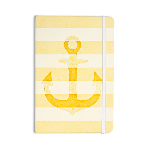 "Monika Strigel ""Stone Vintage Anchor Yellow"" Mustard White Everything Notebook - Outlet Item"