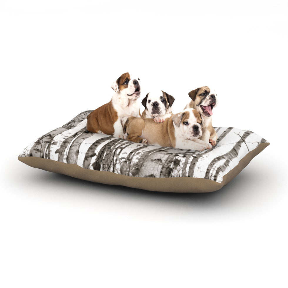 "Monika Strigel ""Birchwood"" Gray Forest Dog Bed - KESS InHouse  - 1"