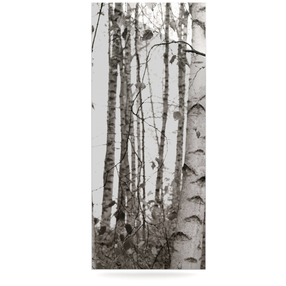 "Monika Strigel ""Birchwood"" Gray Forest Luxe Rectangle Panel - KESS InHouse  - 1"