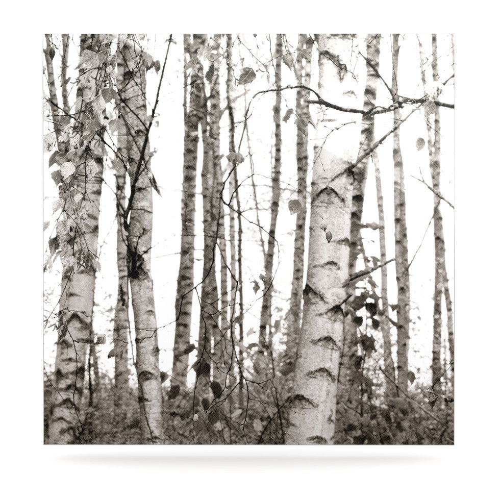 "Monika Strigel ""Birchwood"" Gray Forest Luxe Square Panel - KESS InHouse  - 1"