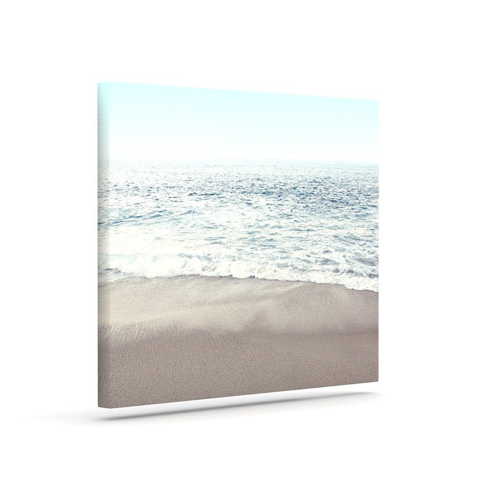 "Monika Strigel ""The Sea"" Blue Coastal Canvas Art - KESS InHouse  - 1"