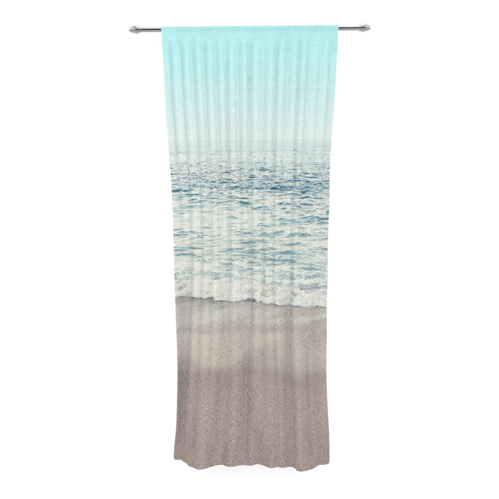 "Monika Strigel ""The Sea"" Blue Coastal Decorative Sheer Curtain - KESS InHouse  - 1"