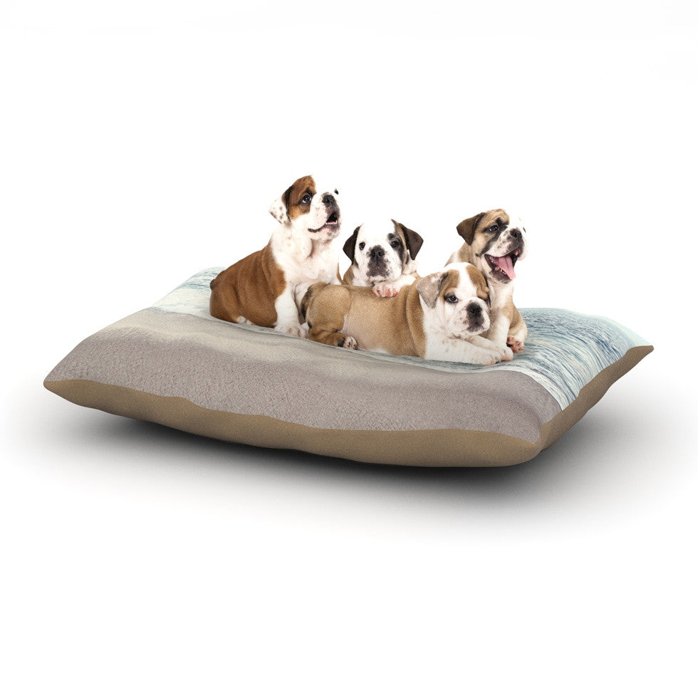 "Monika Strigel ""The Sea"" Blue Coastal Dog Bed - KESS InHouse  - 1"