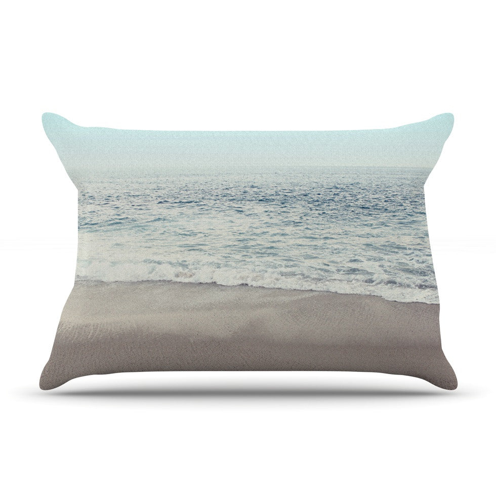 "Monika Strigel ""The Sea"" Blue Coastal Pillow Sham - KESS InHouse"