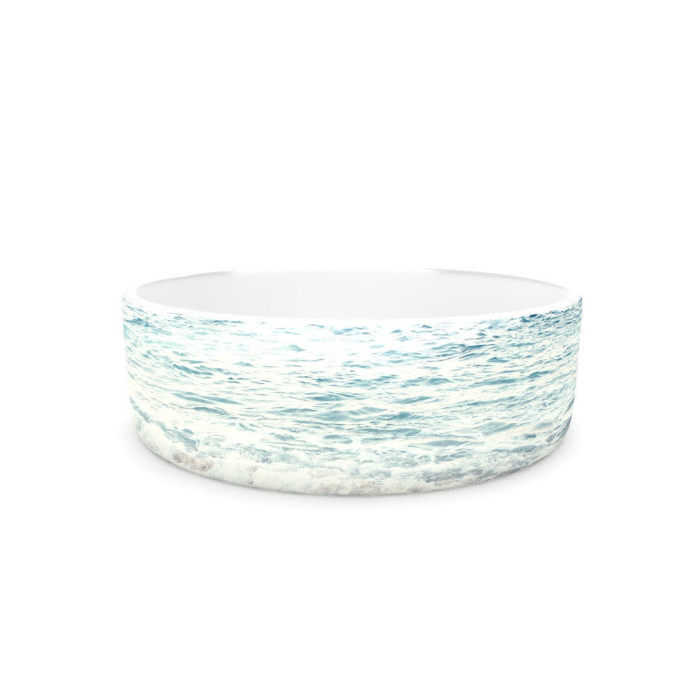 "Monika Strigel ""The Sea"" Blue Coastal Pet Bowl - KESS InHouse"