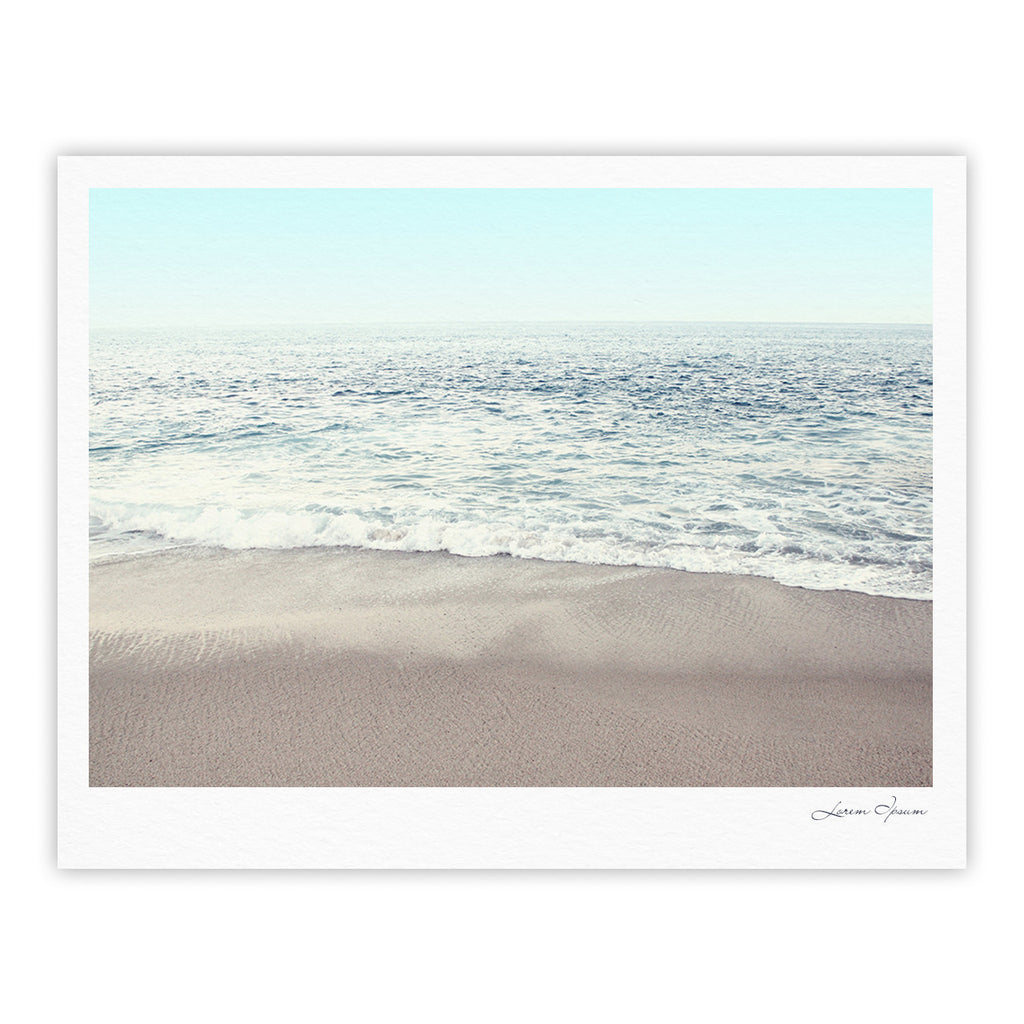 "Monika Strigel ""The Sea"" Blue Coastal Fine Art Gallery Print - KESS InHouse"