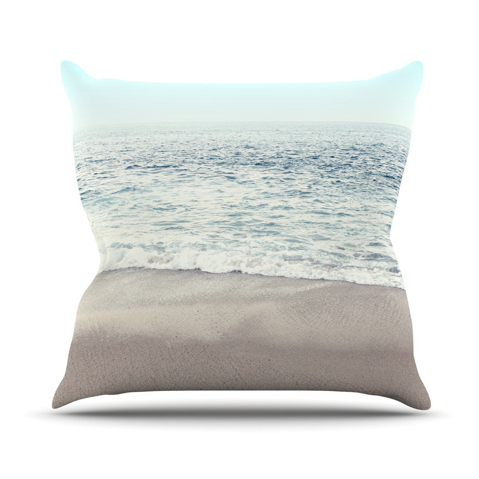 "Monika Strigel ""The Sea"" Blue Coastal Outdoor Throw Pillow - KESS InHouse  - 1"