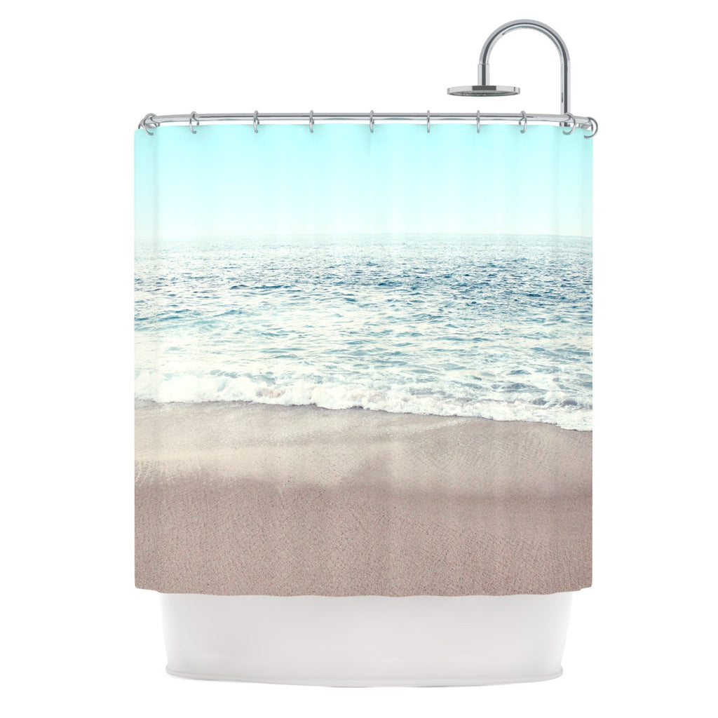 "Monika Strigel ""The Sea"" Blue Coastal Shower Curtain - KESS InHouse"