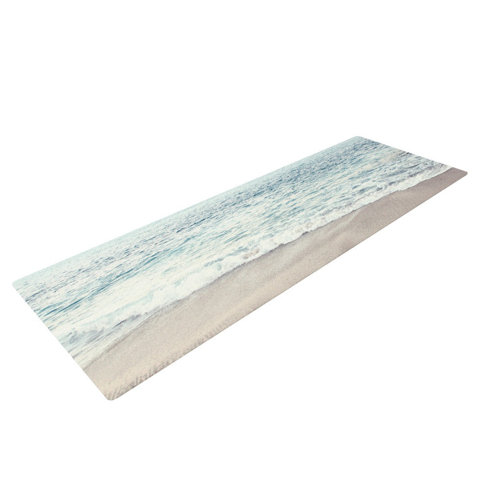 "Monika Strigel ""The Sea"" Blue Coastal Yoga Mat - KESS InHouse  - 1"