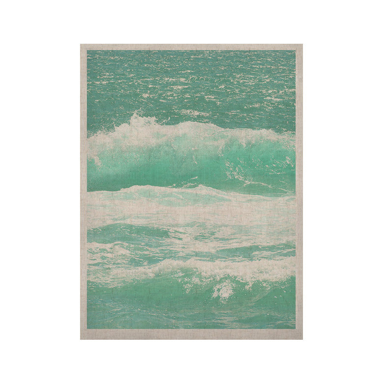 "Monika Strigel ""Maui Waves"" Teal Green KESS Naturals Canvas (Frame not Included) - KESS InHouse  - 1"