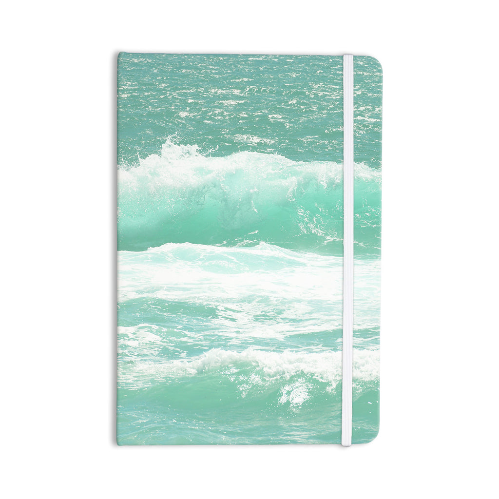 "Monika Strigel ""Maui Waves"" Teal Green Everything Notebook - KESS InHouse  - 1"