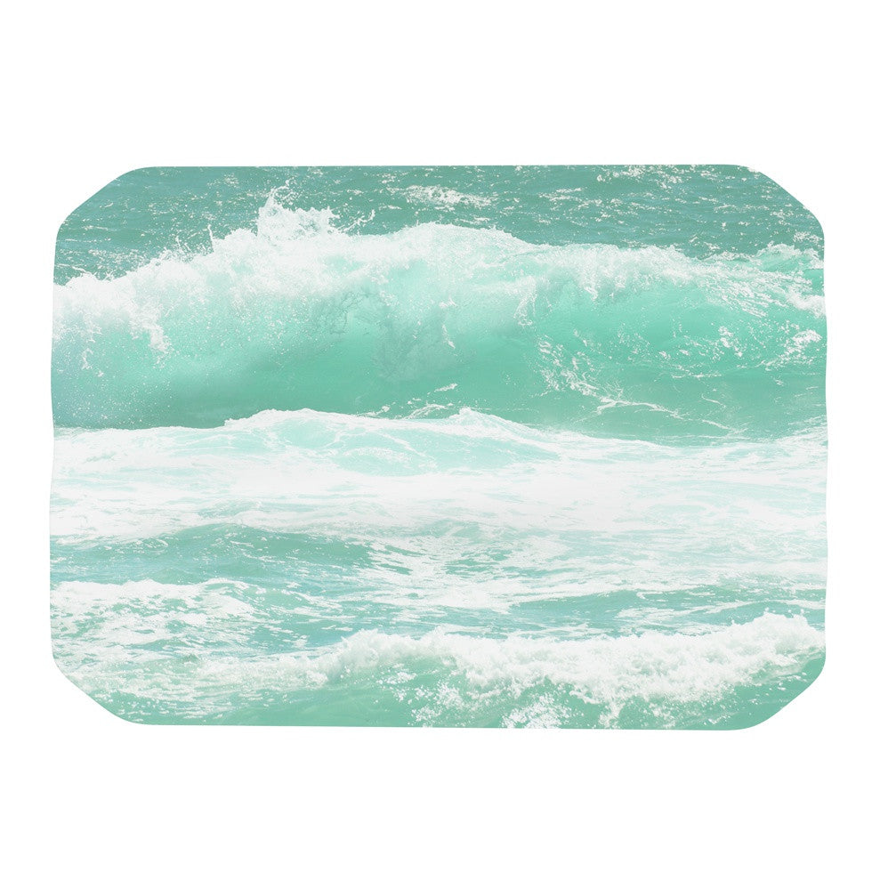 "Monika Strigel ""Maui Waves"" Teal Green Place Mat - KESS InHouse"