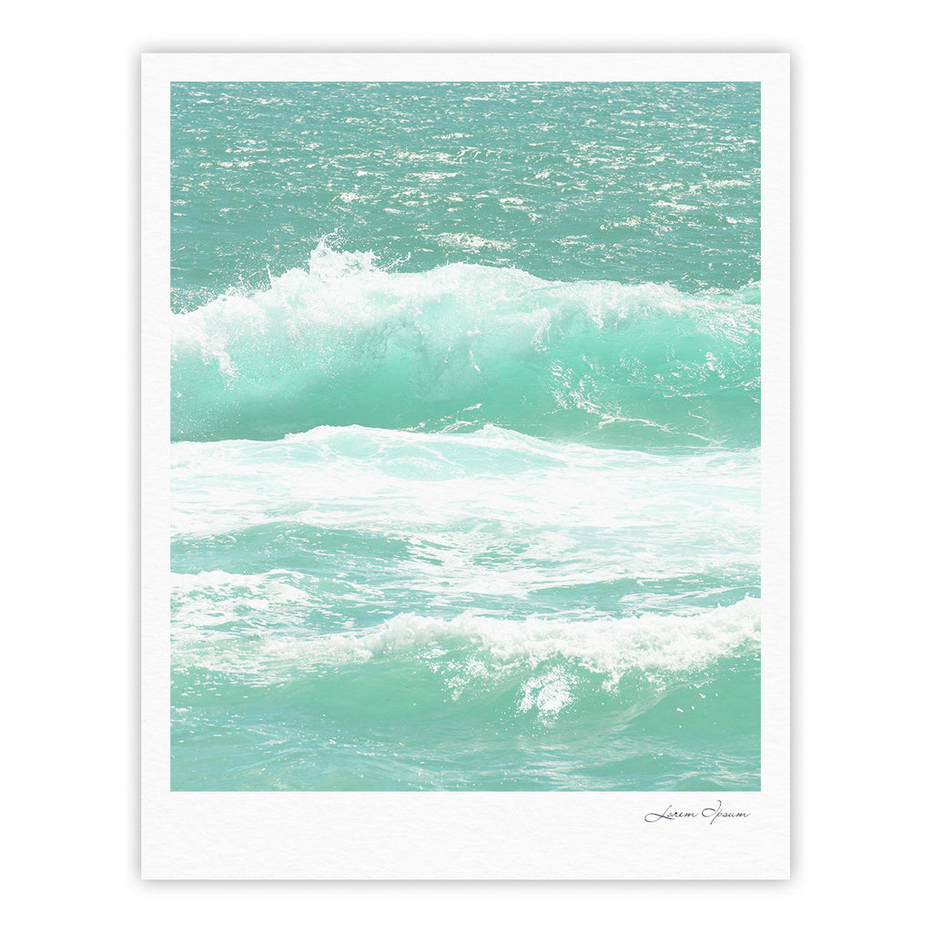 "Monika Strigel ""Maui Waves"" Teal Green Fine Art Gallery Print - KESS InHouse"