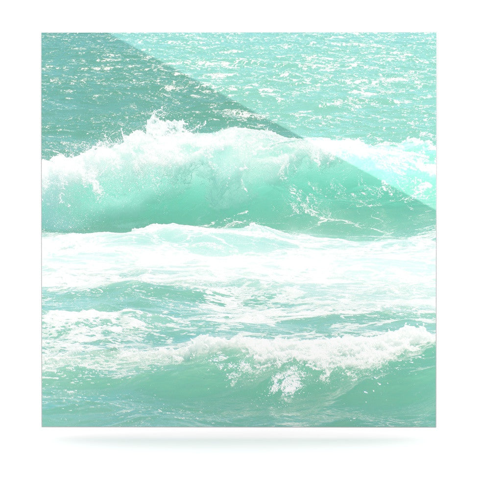 "Monika Strigel ""Maui Waves"" Teal Green Luxe Square Panel - KESS InHouse  - 1"